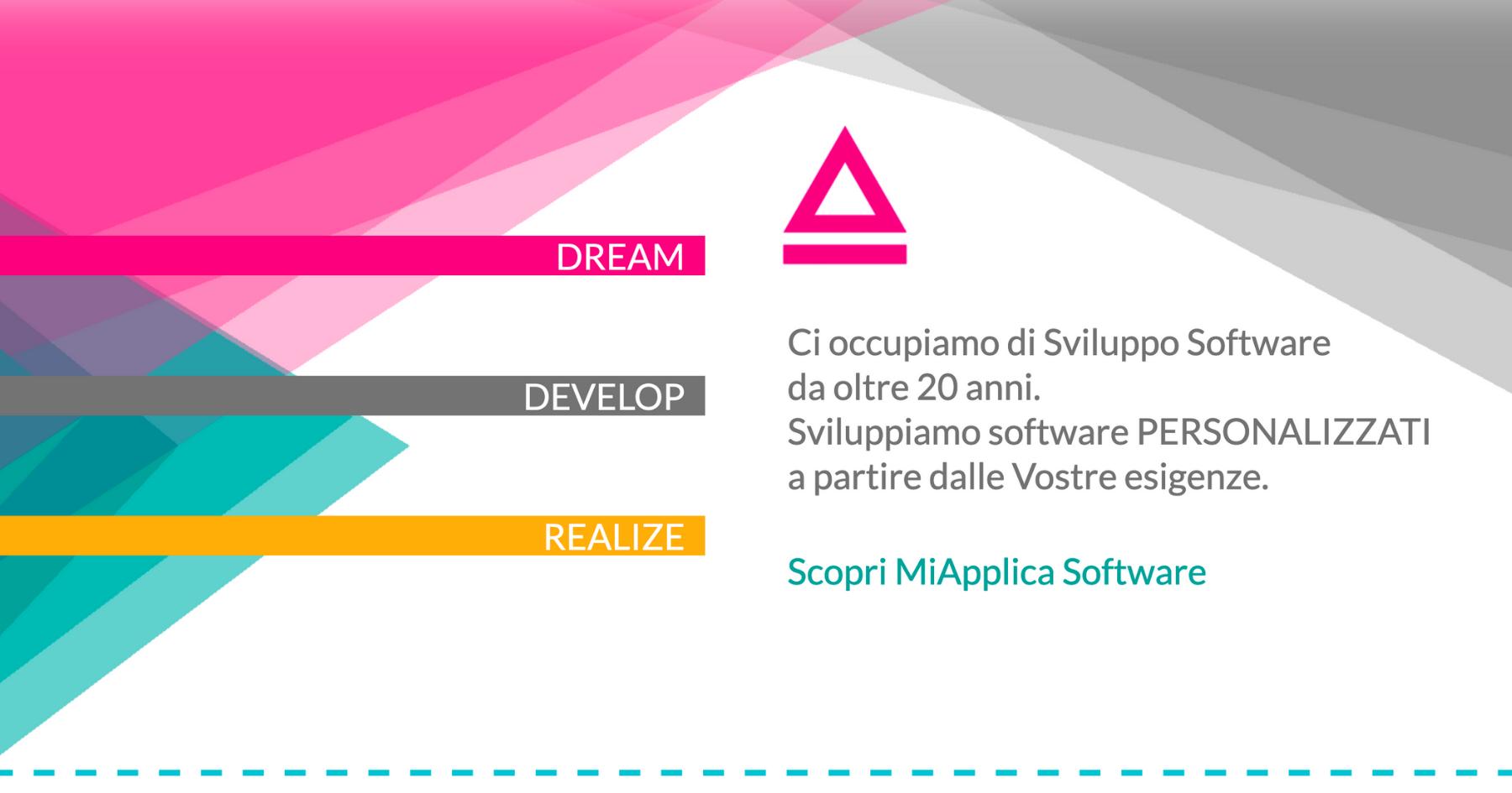 schermata di sito web realizzata utilizzando colori forti