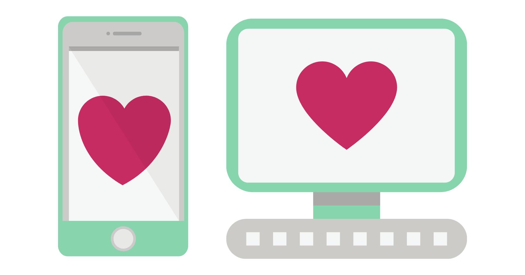 schermo mobile e schermo desktop